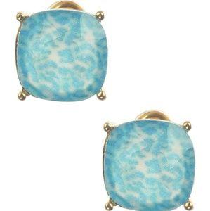 Jewelry - 1/2inch zebra stud earrings